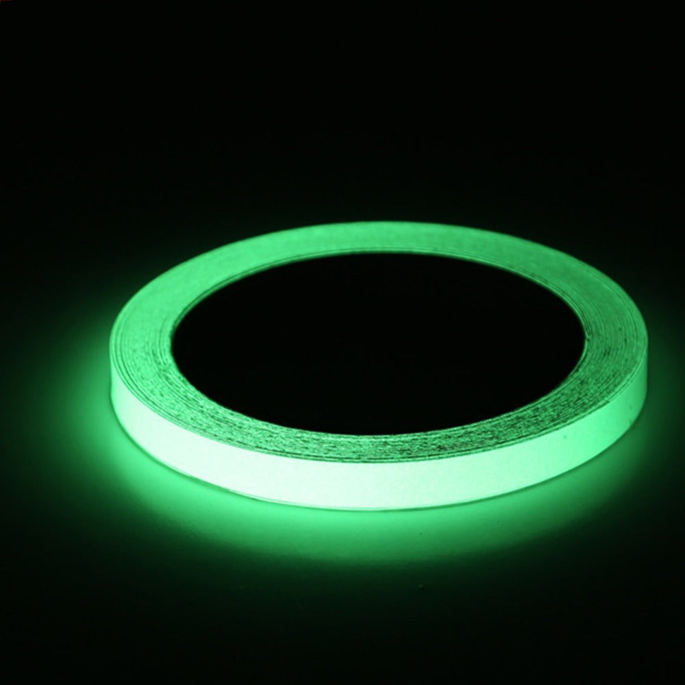Reflective Material Reflective Glow Tape Self-adhesive Sticker Removable Luminous Tape Fluorescent Glowing Dark Striking Warning Tape 2019 Hot Sale