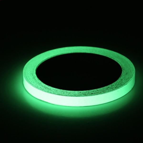 Reflective Glow Tape Self-adhesive Sticker Removable Luminous Tape Fluorescent Glowing Dark Striking Warning Tape - ibspot