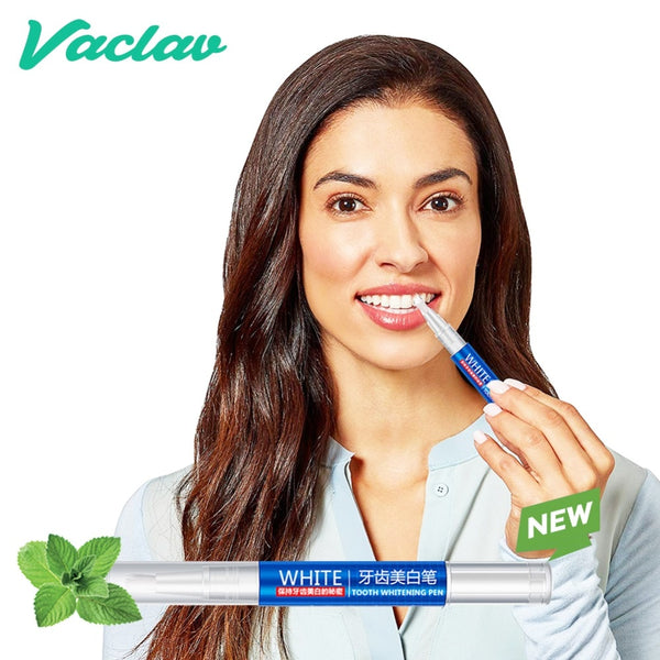 Vaclav 1Pcs Teeth Whitening Pen Tooth Whitening Gel Tooth Bleach Gel Whitener Remove Stains Oral Hygene - ibspot