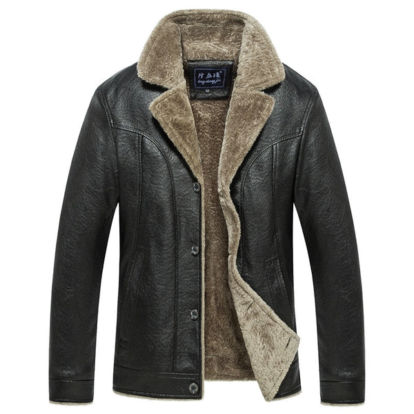 Men Smart Casual Leather Jacket