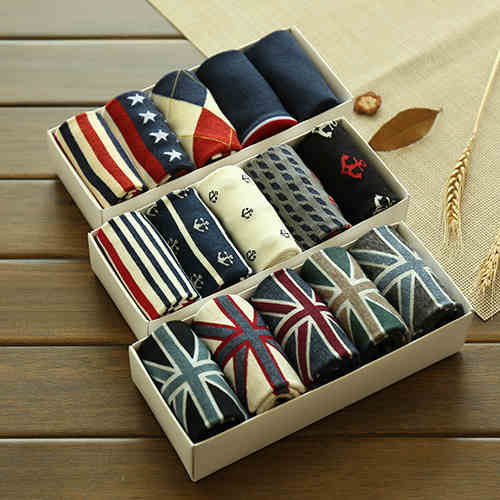 Cotton Stripe Hip Hop Casual Men's Street Boat Socks Long Skateboard - ibspot