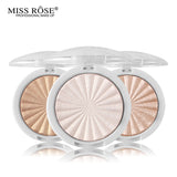 Miss Rose Makeup Shimmer Highlighter Powder Highlighter Palette Base Illuminator Highlight Face Contour Golden Bronzer - ibspot