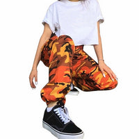 Laamei Summer Women's Ladies Camo Cargo Trousers Pants Casual Pants Military Combat Camouflage Jeans Pencil Pants Pink Red Gray