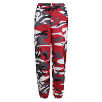 Laamei Summer Women's Ladies Camo Cargo Trousers Pants Casual Pants Military Combat Camouflage Jeans Pencil Pants Pink Red Gray - ibspot