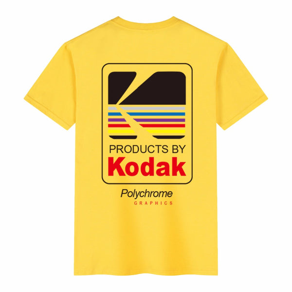 Women/Men Wild Kodak Letter KODAK 100% Cotton T-shirt Hip Hop - ibspot