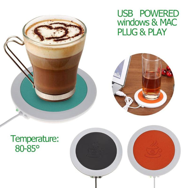 USB Mat Heating Coffee & Tea Cup Warmer Pad for Office - ibspot