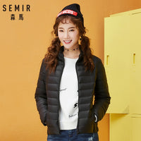 SEMIR Women Winter Coat 2018 New Ultra Light White Duck Down Jacket Slim Women Winter Puffer Jacket Portable Windproof Down Coat