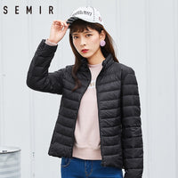 Semir Brand 2017 New Women 90% White Duck Down Jacket Lady Ultralight Duck Down Jacket Autumn Winter Warm Coat  Female Windproof - ibspot