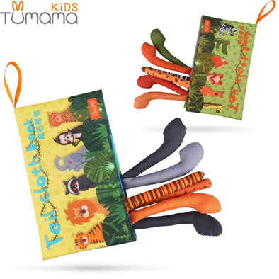 Tumama Baby Mobile Soft Rattles Animal Tails Cloth Book for Baby Early Learning Education - ibspot