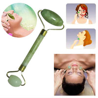 Rose Quartz Roller Slimming Face Massager Lifting Tool Natural Jade Facial Massage Roller Stone Skin Massage Beauty Care Set Box - ibspot
