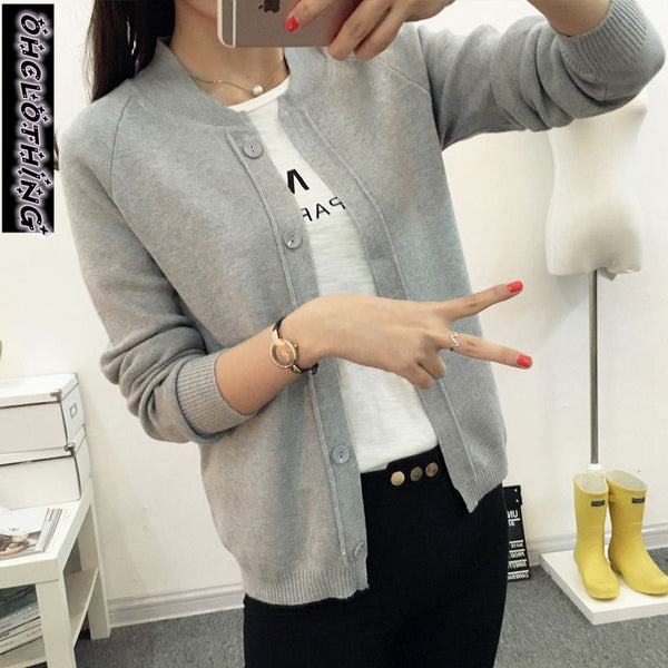 OHCLOTHING New spring summe 2019 female knit cardigan sweater coat short female a little shawl knitted jacket female 12 color - ibspot