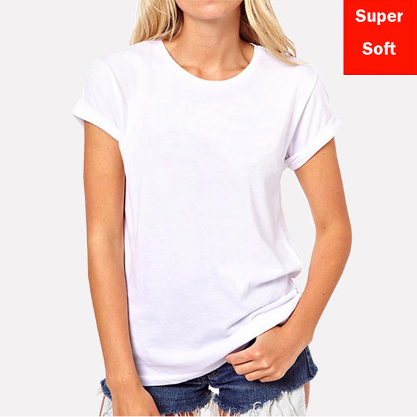 Lyprerazy Summer Super soft white T shirts Women Short Sleeve cotton Modal Flexible T-shirt white color Size S-XXL - ibspot