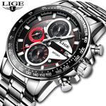 Men Fashion Creative Business Chronograph Quartz Clock Stainless Steel Waterproof Watch