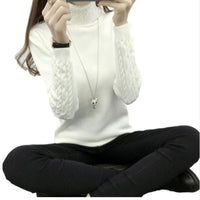 Women Turtleneck Winter Sweater Women 2019 new Long Sleeve Knitted Women Sweaters And Pullovers Female Jumper Tricot Tops QH0812