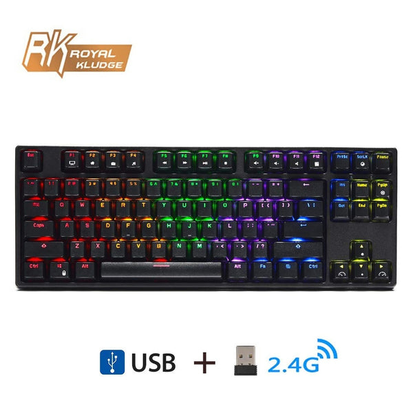 RK Sink87G Wireless 2.4G Mechanical Gaming Keyboard Blue Brown Switch with  RGB LED Backlight - ibspot