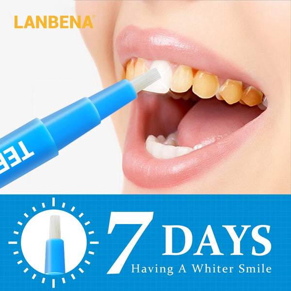 LANBENA Teeth Whitening Pen Cleaning Serum Removes Plaque Stains Dental Tools Oral Hygiene Tooth Gel Whitenning Brush Teeth 3ml - ibspot
