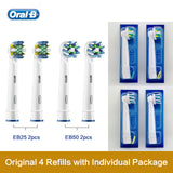 Oral B Replacement Brush Heads 3D Teeth Polish Whitening Dental Floss Clean Precision Nozzles For Rotary Toothbrush - ibspot