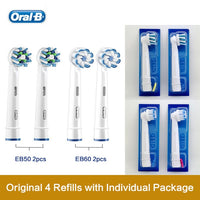Oral B Replacement Brush Heads 3D Teeth Polish Whitening Dental Floss Clean Precision Nozzles For Rotary Toothbrush