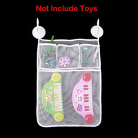 Cartoon Cute Bathroom Hanging Storage Basket Baby Kids Bathing Toy Storage Organizer Bathroom Folding Mesh Storage Basket