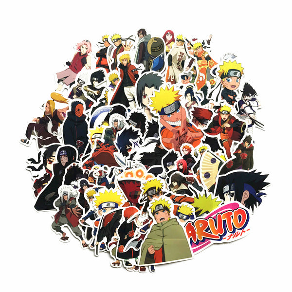 Japan anime 63Pcs/lot Naruto sasuke Cartoon For Snowboard Laptop Luggage Fridge Car- Styling Vinyl Decal  Stickers - ibspot