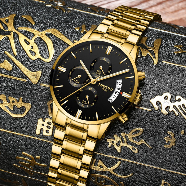 Men Waterproof Casual Luxury  Business watch - ibspot