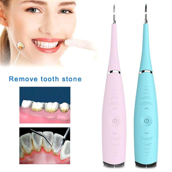 Portable Electric Sonic Dental Scaler Tooth Calculus Remover Tooth Stains Tartar Tool Dentist Whiten Teeth Health Hygiene White - ibspot