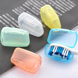 Y&W&F 5 Pcs/Set Portable Travel Toothbrush Head Cover Multi Color 4*2*2.5cm Tooth Brush Holder Covers Toothbrush Protect Tools - ibspot