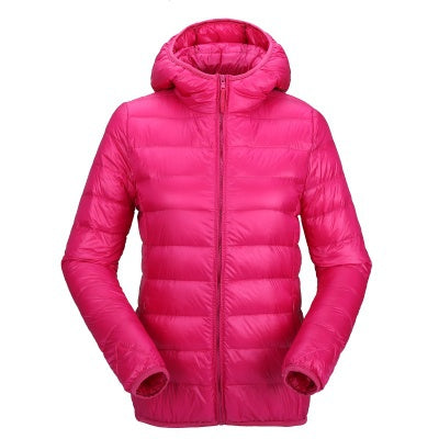 Winter Woman Padded Warm Coat Ladies Ultra Light Duck Down Padded Coat Female Short Slim Solid Portable Overcoat 2019 New - ibspot