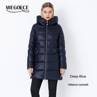 MIEGOFCE 2019 Winter Coat Women's Parka With a Hood Jackets And Parka Women's Military Coat Hat New Winter Fashion Coat Jacket