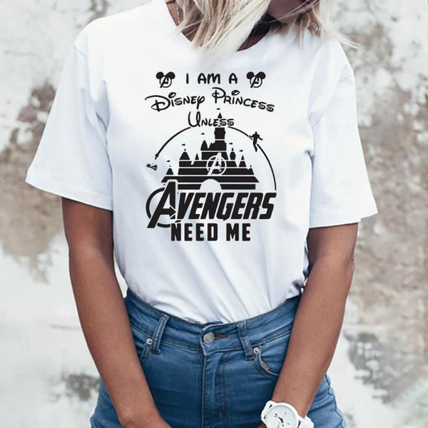Women Marvel Avengers Endgame T-Shirt with Heroes Superheroes Marvel Comics Captain America Thanos Vacation - ibspot
