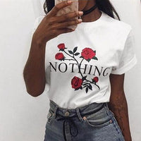 Women Crew Neck T-Shirt with Humor Tea Print and Short Sleeve - ibspot