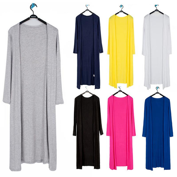 Women's Casual Long Modal Cotton Sweater Cardigan Soft Comfortable Strong Dangling Simple Solid Free Size Loose Thin Cardigan - ibspot