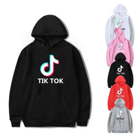 TIK TOK Logo Printing Men's Casual Sports Hoodie Fashion Hoodie Hip Hop Streetwear