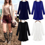 Women Casual Open Front Long Sleeve No Draped Hem Solid Spring Knit Slim Casual, Party Pleated Cardigan