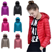 ZOGAA Woman Spring Parka Jacket Coat Warm Ultra Light Duck Down Padded Jacket Female Overcoat Slim Solid Coat Womens Parkas - ibspot