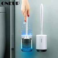 ONEUP TPR Rubber Head Holder Cleaning Toilet Brush - ibspot