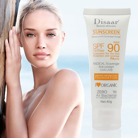 SPF 90+ Facial Body Whitening Sunscreen Cream Beauty Skin Care Oil Free Radical Scavenger Britening Anti Sun Day Cream TSLM1 - ibspot
