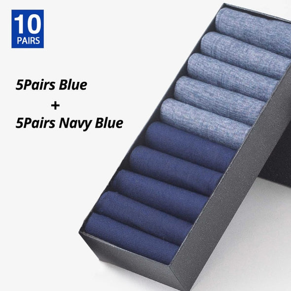 [10 Pairs] Men Summer Breathable Bamboo High Quality Thin Business Casual Socks - ibspot