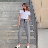 Women striped pants 2019 summer autumn fashion female high elastic waist casual loose harem pants pencil trousers pantalon
