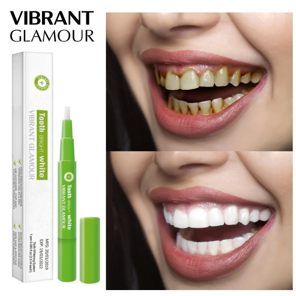 VIBRANT GLAMOUR Teeth Whitening Pen Cleaning Serum Remove Plaque Stains Dental Tools Oral Hygiene Tooth Gel WhitenningToothpaste