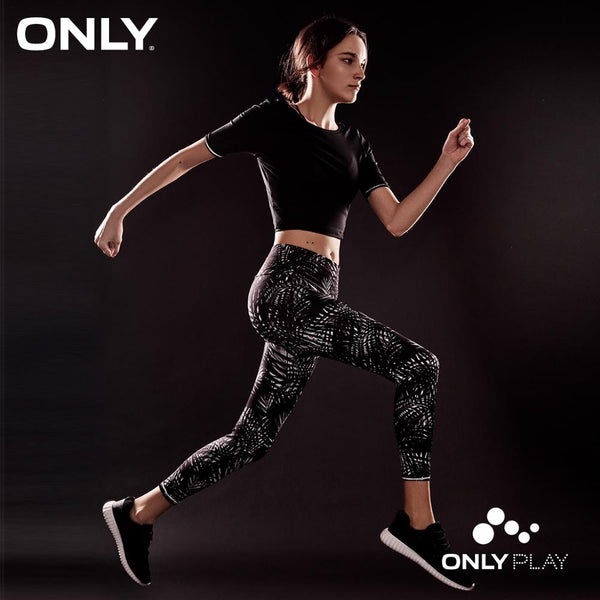 ONLY PLAY Slim Fit High-rise Printed Leggings |118265504 - ibspot