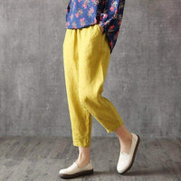 WEPBEL Women Cotton Pants Harem Casual Linen Summer Lady Girl Pant Trousers