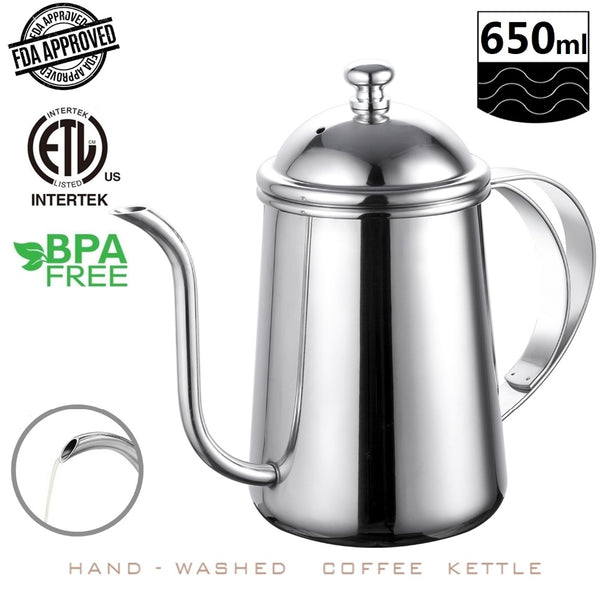 Stainless Steel Coffee Kettle (22 oz / 650 ml)