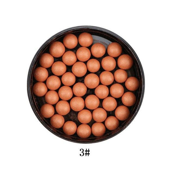 LUWHICEY Face Blusher Long Lasting Contour Bronzer Makeup Matte Natural Blush Ball Oil-control Professional Full Cover Makeup - ibspot