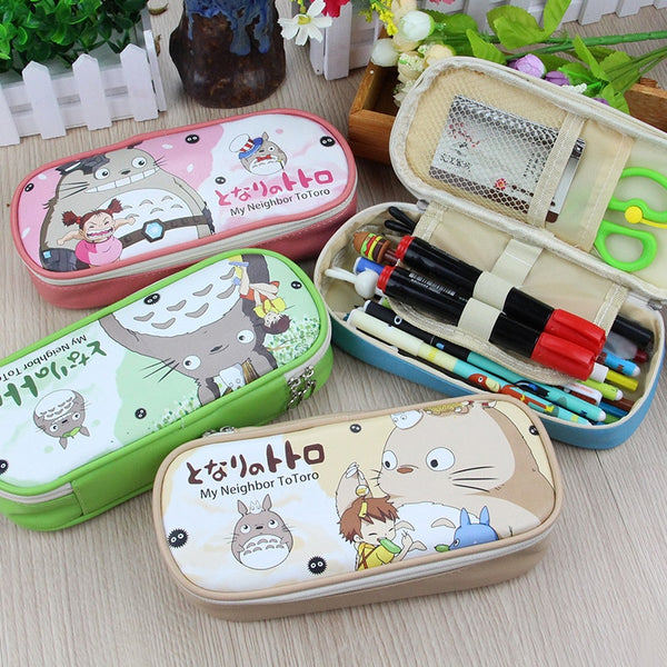 Totoro Cute Zipper Fruit Pencil Case with Large Capacity Stationery