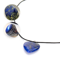 [Create jobs in Zambia, Africa] Lapis Lazuli Handmade African Jewelry Heart Design Pendant Necklace ★ Get Free Jewelry Box ★ - ibspot