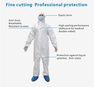 Washable & Reusable Anti-Dust, Anti-Pollen Medical Personnel Safety/Hazmat Suits