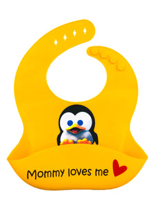 Premium Silicone Baby Bibs with Latest Nano Hybrid Technology - BABY PENGUIN