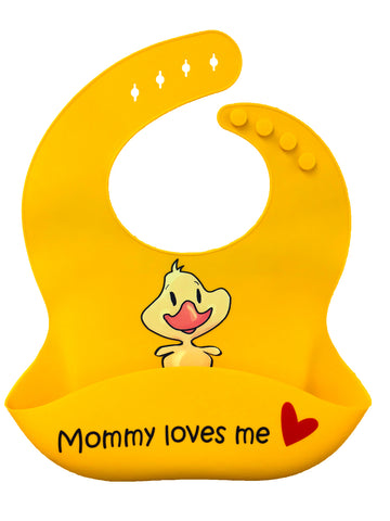 Premium Silicone Baby Bibs with Latest Nano Hybrid Technology - BABY DUCK
