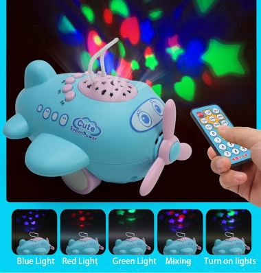 Baby Too Cute Lights and Sounds Plane Sound Machine